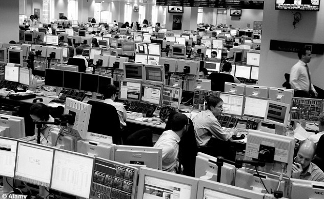 Trading desks in the 1980s