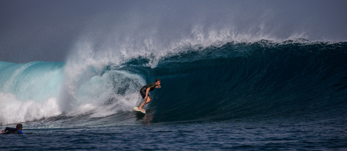 Toms life at 25 involves surfing in Mentawai islands, Indonesia