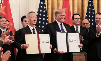 Trump is not a chump, signing a trade deal with China
