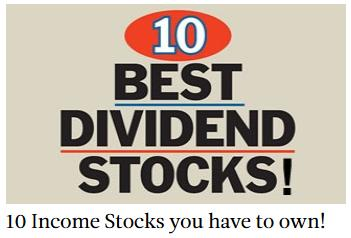 10 Income stocks you have to own