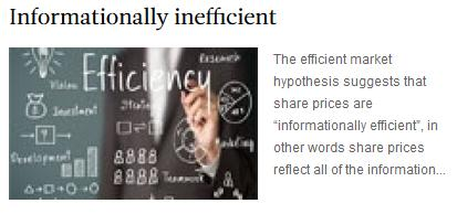 Informationally inefficient
