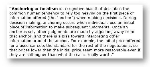 Anchoring or focalism