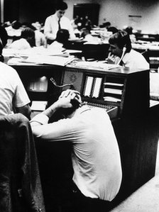 Stock brokers during 'The Crash' 1987
